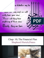Chap 10 the Financial Plan by Shepherd Hisrich, Peters