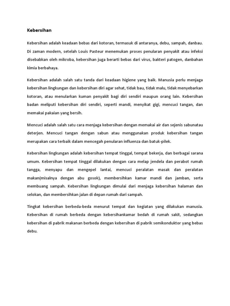 Artikel Kebersihan Lingkungan