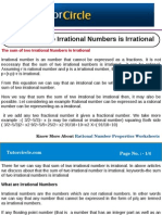 The Sum of Two Irrational Numbers is Irrational
