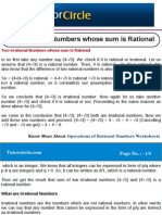 Two Irrational Numbers Whose Sum is Rational