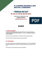 BASES DEL REGIONAL SUR MAYORES  -  ILO 2012