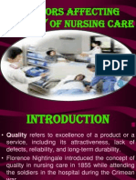 Factors Affecting Quality of Nursing Care