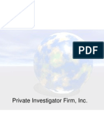 EXAMPLE Business Plan - Private Investigator PPT