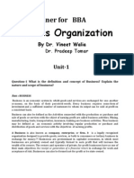 Business Organization for Bba