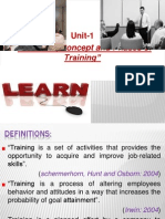 Training and Development Module 1