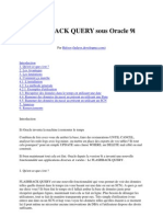 Le Flashback Query Sous Oracle 9i