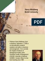 Presentation on Henry Mintzberg-khushboo Daga