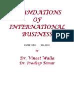Foundations of International Business