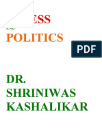 Stress and Politics Dr. Shriniwas Kashalikar