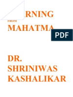 Learning From Mahatma Gandhi Dr Shriniwas Kashalikar
