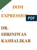 Freedom of Expression Dr Shriniwas Kashalikar