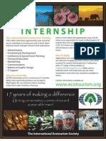 The International Ecotourism Society Internship Program