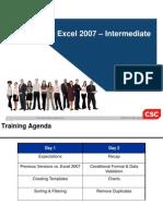MS Excel Intermediate 2007