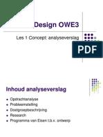 OWE3 Design Les1 Analyseverslag