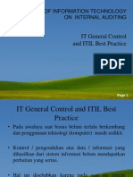 Chap 18--IT General COntrol and ITIL Best Practices