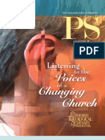 PS Spring 2012 - The Magazine of The Lutheran Theological Seminary at Philadelphia