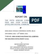 Report on Fossfa 2012