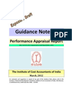 Exposure Draft on Performance Appraisal (FormIII) Reporting