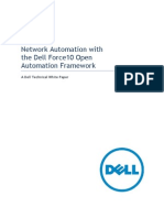Network Automation With the Dell Force10 Open Automation Framework Whitepaper 20110919