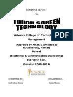 Touchscreen Report