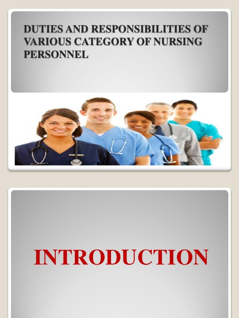 duty nurse job description