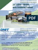 Serviços online - IBAMA/ Licenciamento Ambiental Federal