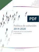 Política de cohesión 2014-2020. Inversión en el crecimiento y el empleo (Es)/ Cohesión Policy 2014-2020. Investment in growth and employment (Spanish)/ Kohesio politika 2014-2020. Hazkundean eta enpleguan inbertsioa (Es)