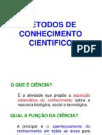 MÉTODOS DE CONHECIMENTO CIENTIFICO