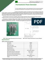 TEG 500W Thermoelectric Power Generator
