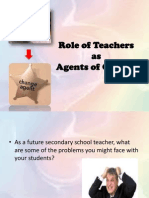 Role of Teachers as Agents of Change