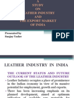 Leather Industry and the Export Market of India..Sanjay Yadav
