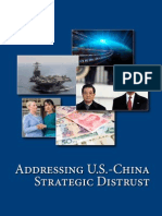 Addressing US-China strategic distrust
