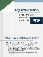 BTG Legislative History