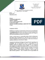 carta con la que respondemos la propuesta empresarial al pliego de peticiones.
