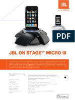 Specification Sheet - On Stage Micro III (English)