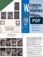 Words Work Wonders or Blunders by W. v. Grant, Sr