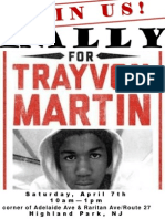 Rally Trayvon Martin 7 April 2012 Highland Park, NJ