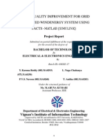 Power Quality Improvement for Grid Connected Wind Energy System Using Facts