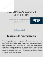 Codigo Visual Basic for Application