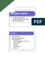 Kuliah 3 Sistem Linear