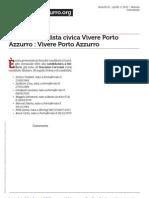 Presentata la lista Vivere Porto Azzurro