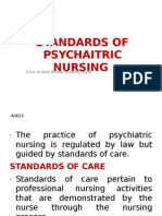 Standards of Psychaitric Nursing