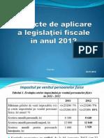 Aspecte de Aplicare a Legislatiei Fiscale in Anul 2012