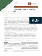 Risk Factors of Gallbladder Cancer in Karachi-A Case-control Study