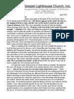 Full Gospel Lighthouse Church April 2012 Newsletter