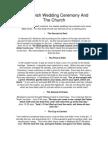 Jewish Wedding Ceremony & the Church
