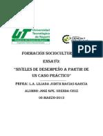 FORMACIÓN SOCIOCULTURAL II-ENSAYO