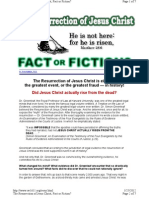 Resurrection of Jesus Christ, Fact or Fiction