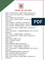 Grille Des Programmes de Nessma Du 08 Au 14 Avril 2012 (Fr)