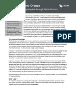 French Telecom (Orange) - Mobile API Publishing